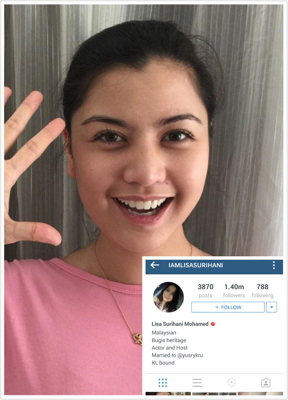lisa surihani top 100 most popular malaysians on instagram