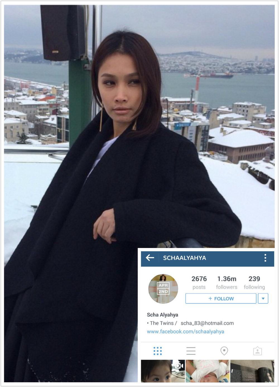 Scha Alyahya top 100 most popular malaysians on instagram