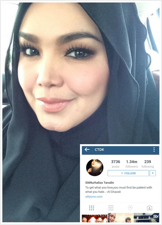 Siti Nurhaliza top 100 most popular malaysians on instagram