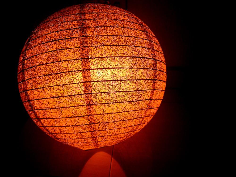 Handrawn art lantern exhibited in 321 Studio, Publika