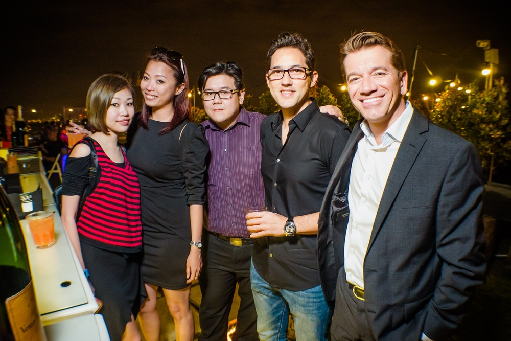 (L-R) Law Erng Joo, Louise Ng, Andrew Lim, David Dang & Mathieu Duchemin from Moet Hennessy Diageo Malaysia