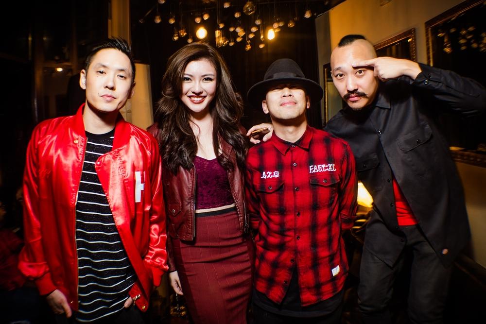 (L-R) Kev Nish, Carey Ng, DJ Virman and Prohgress