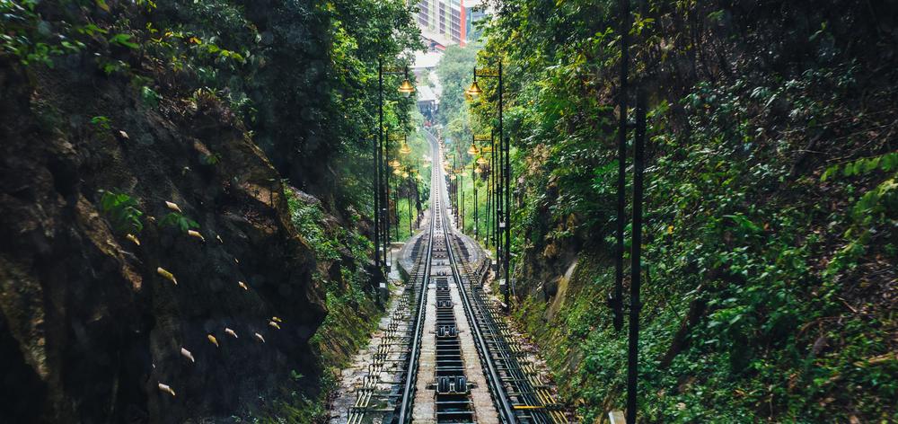 Asceding up to Penang Hill - Bukit Bendera