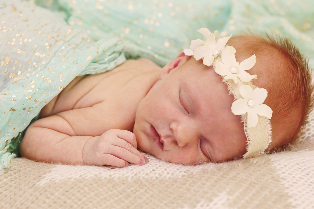Phoenix child and newborn photography with spring colors.