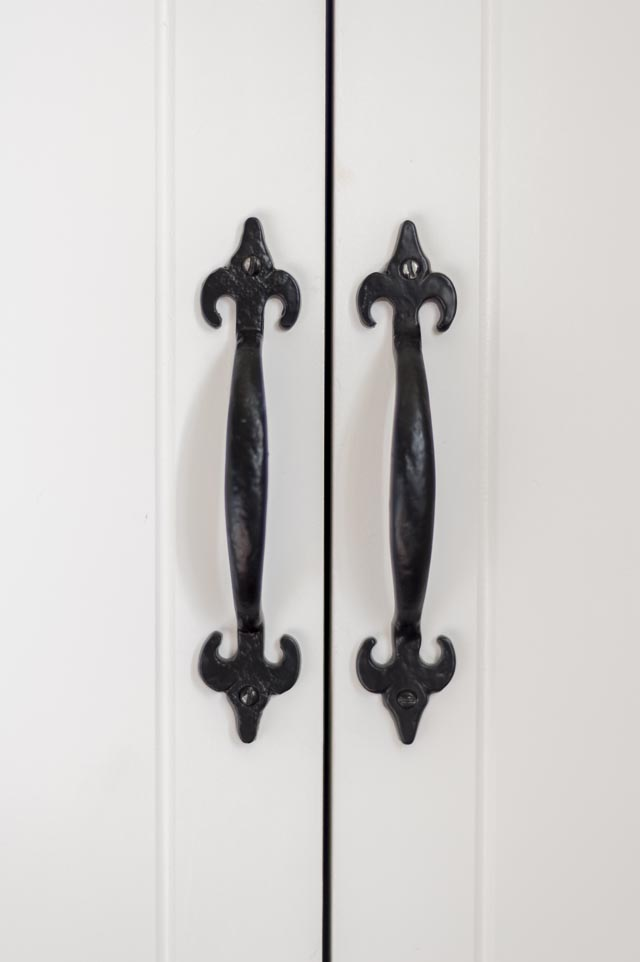 Detail of Cupboard Doors with Traditional Ironmongery