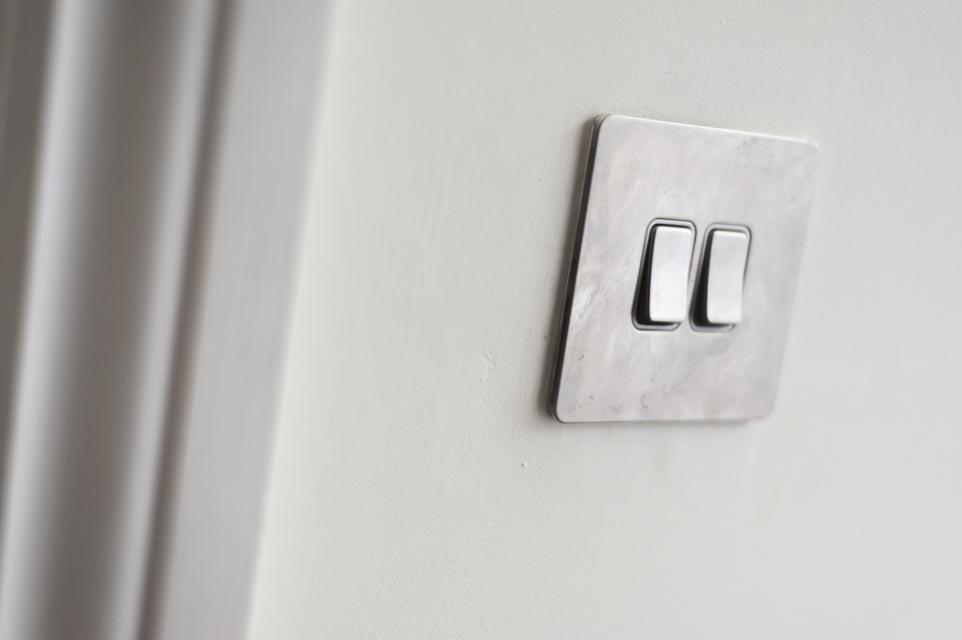 Brushed Chrome Light Switch