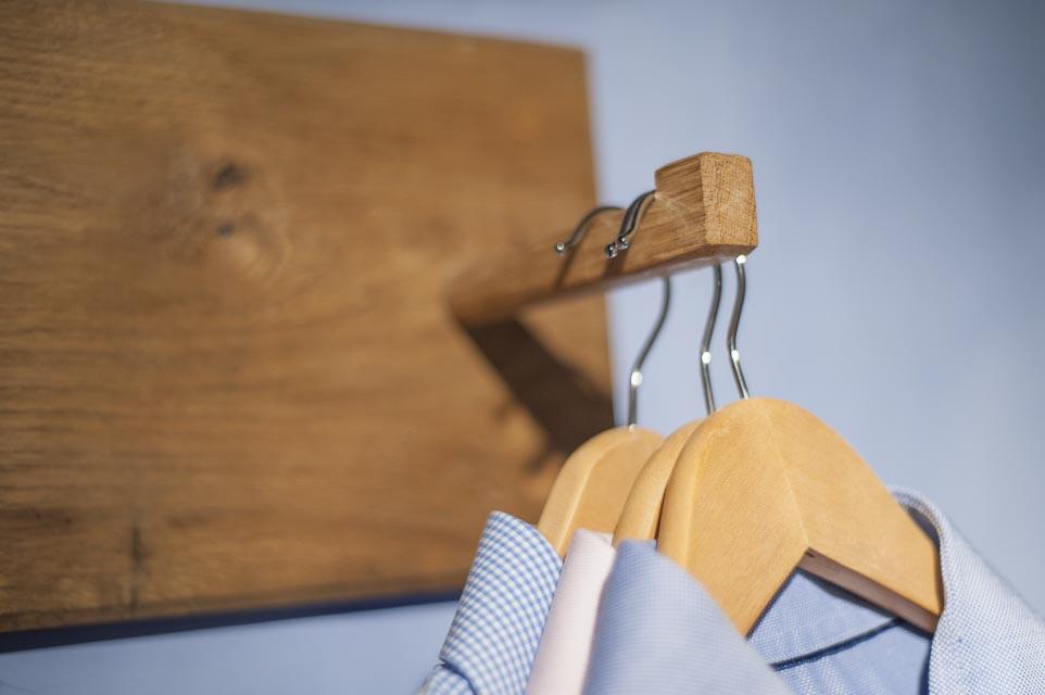 Oak Peg Board Detail
