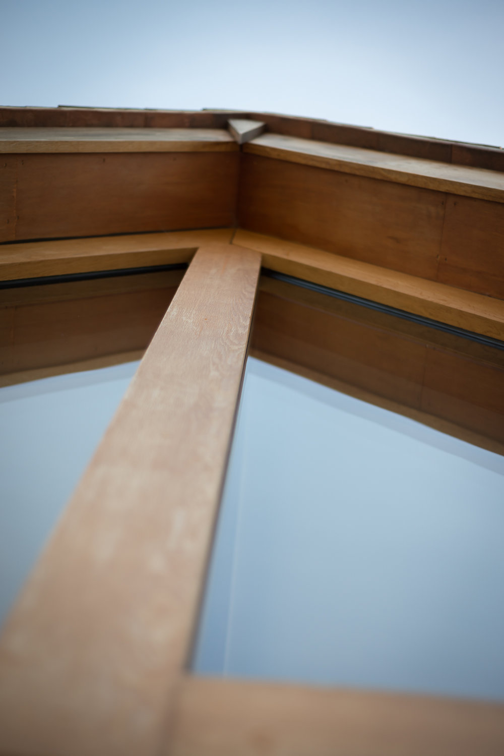 Glulam Timber Frame and Triple Glazed Gable End