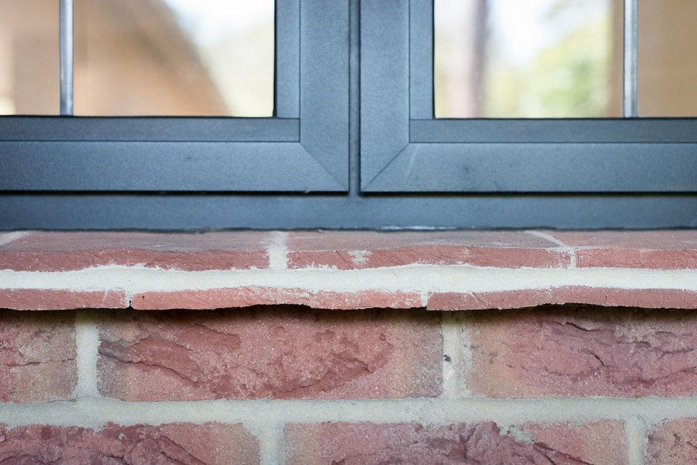 Leaded Light Window with Tiled Window Ledge