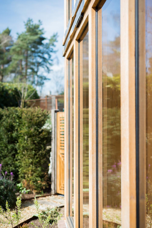 Glulam Timber Framed Full Height Glazing