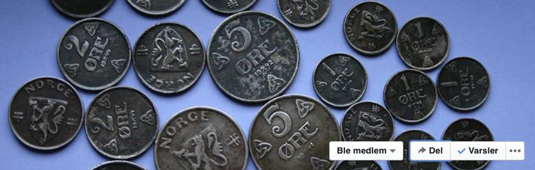 Myntklubben har eiga side på Facebook.