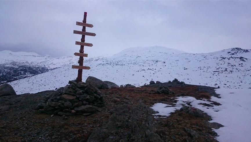 Det har minka mykje på snøen i fjellet dei siste fem dagane, men framleis er det ein del igjen. Dette bildet er frå Nordfjell fredag den 13. (Foto: Jan Martin Skaaluren)