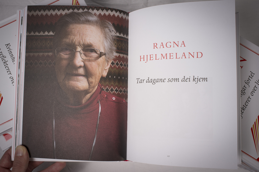 Ragna Hjelmeland er ein av tolv som er med i boka «Godt vaksen». (Foto: Kristen Børje Hus)