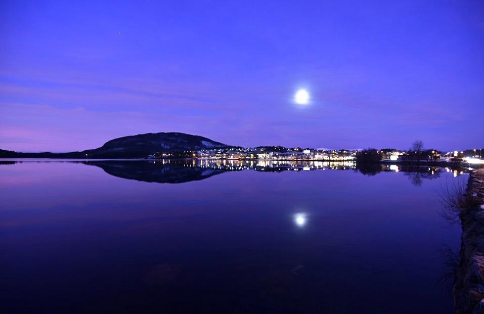 Stemning ved Opsangervatnet ca kl 07.30 måndag 28. desember 2015. (Foto: Kristian A. Karlsen)