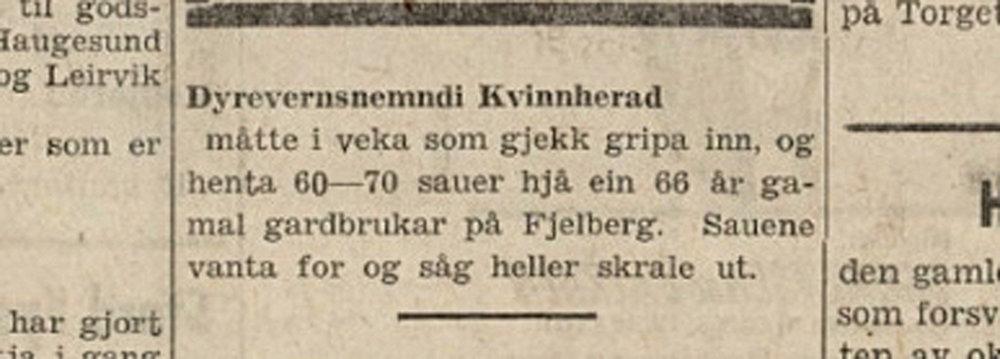 Notis frå avisa Sunnhordland