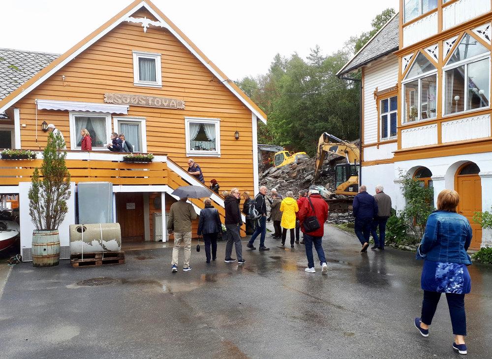 Sjøstova, huset frå 1600-talet, vart godt besøkt då boka om Tjerand Aske blei presentert.