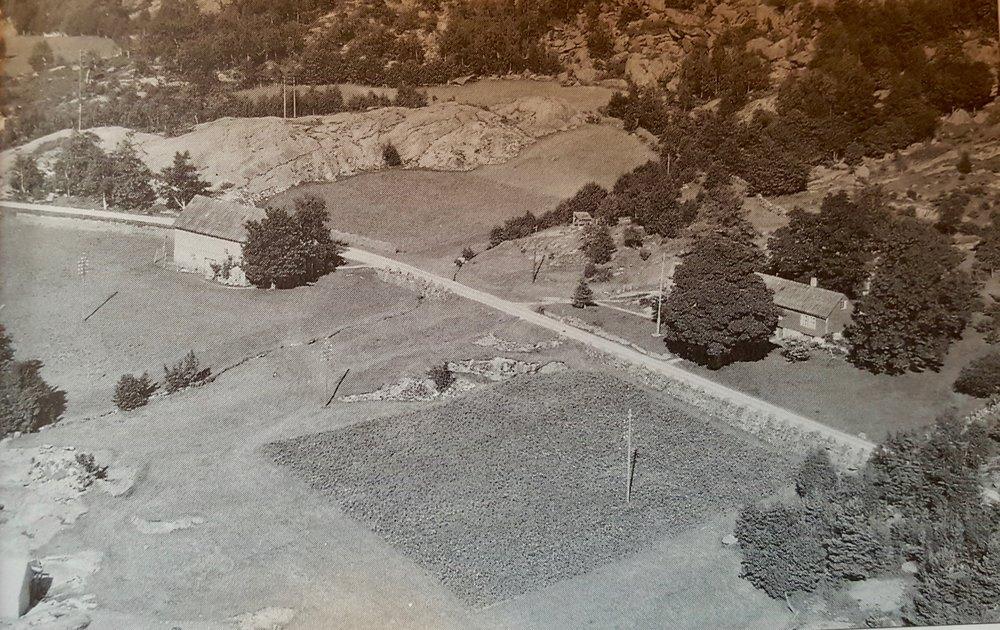 Frå Raudstein i 1954. (Bilete frå kommunen sitt arkiv)