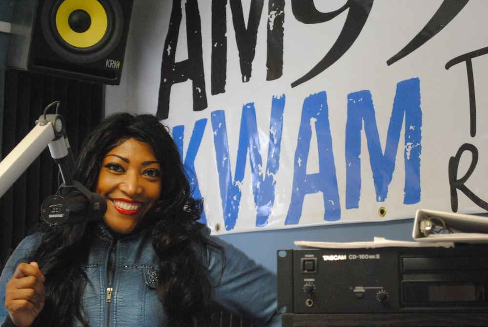 Our first home radio station, AM 990 KWAM!