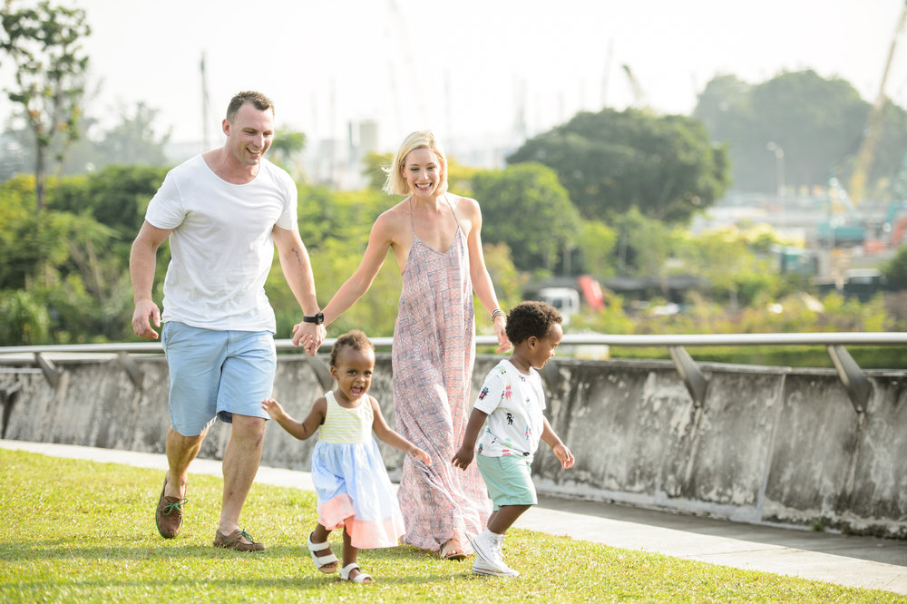 Ness with her hubby Tim with their children Ella and Tomas