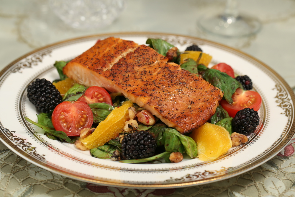 Honey-Smoked Salmon Salad