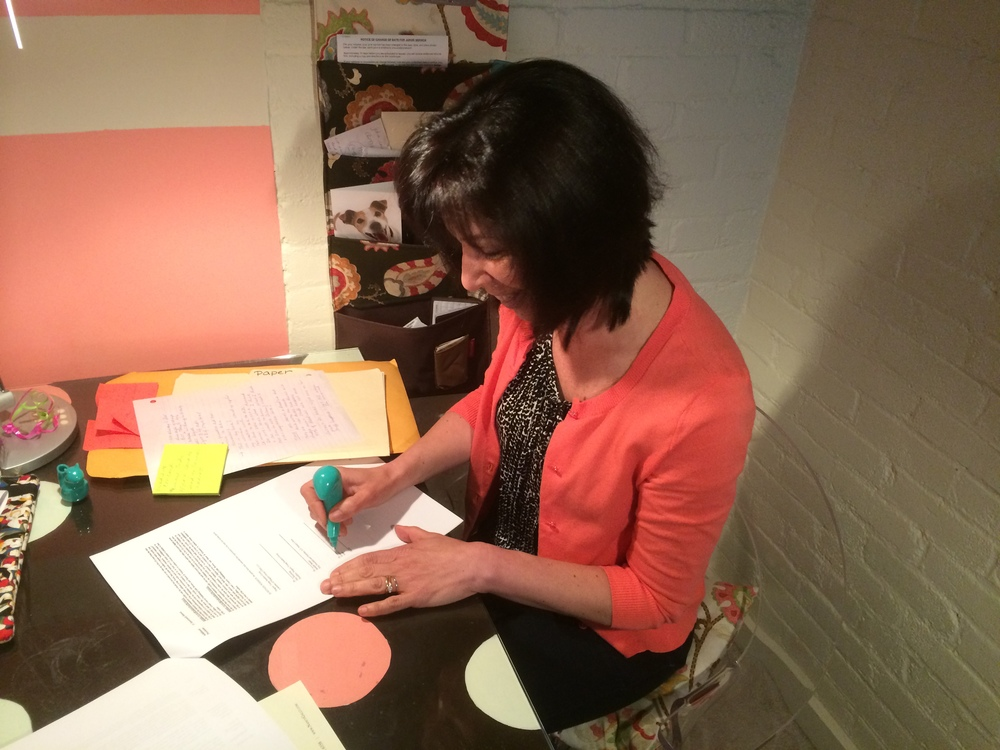 Here I am signing my first publishing contract!