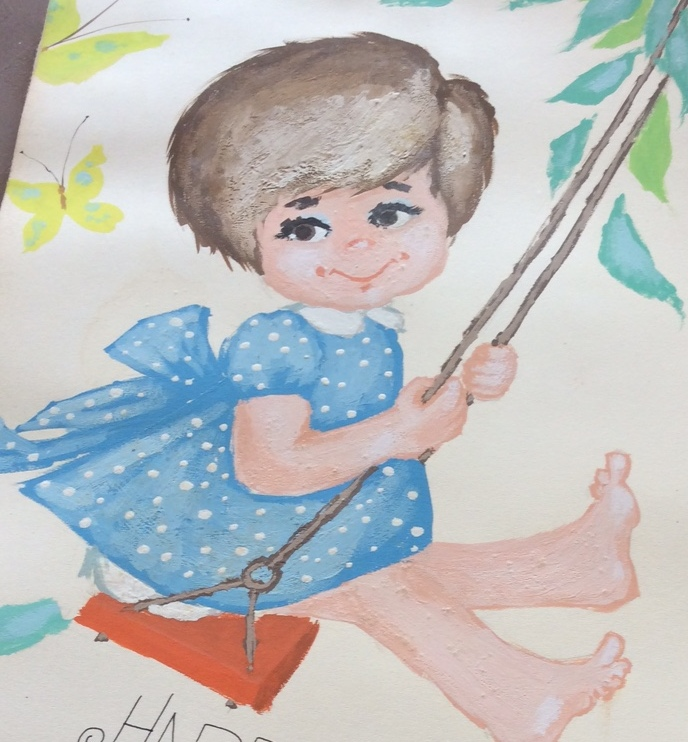 A portrait of me at age three painted by my uncle.