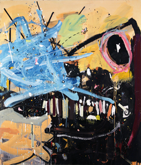 Tactile Hallucination Acrylic and Marker 70 (vertical) x 60 (horizontal) inches 2010