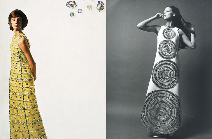LEFT: Christian Dior and Swarovski Advertisement. RIGHT: Lanvin, 1969 IMAGES: Swarovski Archive