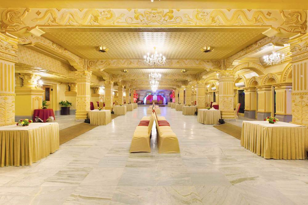 Wedding Reception at Kailash Hall at Hotel Shanker, Kathmandu, Nepal.