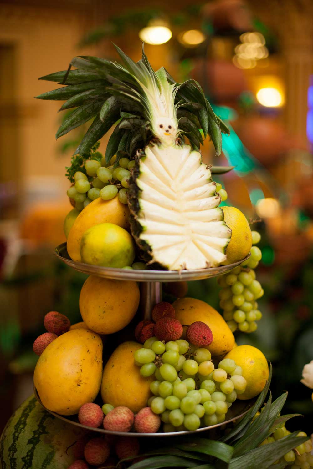 """Hello Pineapple"" from the dessert island in one of the wedding functions at Hotel Shanker, Kathmandu, Nepal"