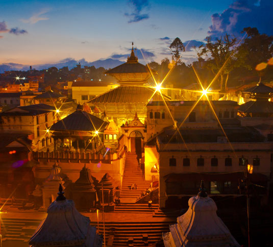 The holy Pashupatinath temple in Kathmandu