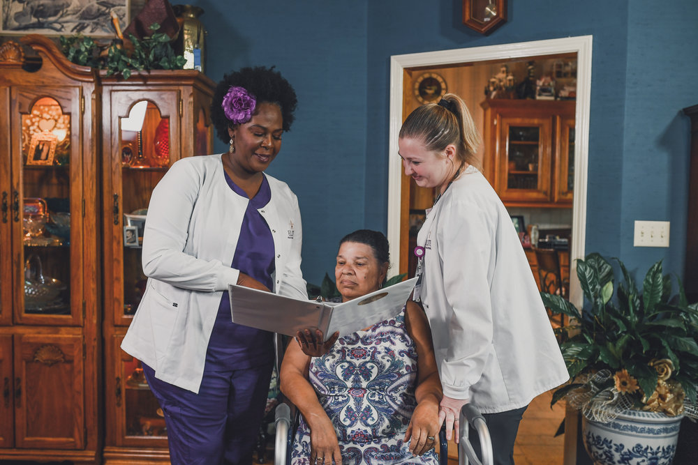 Non-medical assistance private home caregiver and senior companion services