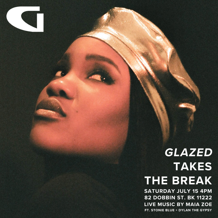 Join us for the celebration of Glazed's arrival at The Break. The exclusive + insanely chic accessories line is finally launching at our store so we will be dancing & drinking the night away in celebration. Featuring Stonie Blue, Dylan the Gypsy, a live performance by Maia Zoe, all the rosé you can drink and the hottest berets in NYC... you cannot miss this one!