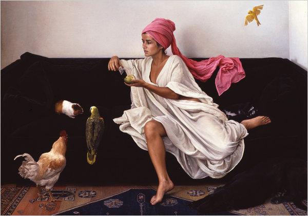 Circe (aka Nicole) ,by Claudio Bravo, Oil on Canvas 1986.