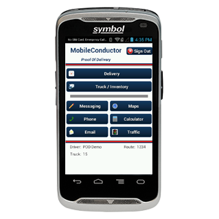MobileConductor Direct store delivery mobile device