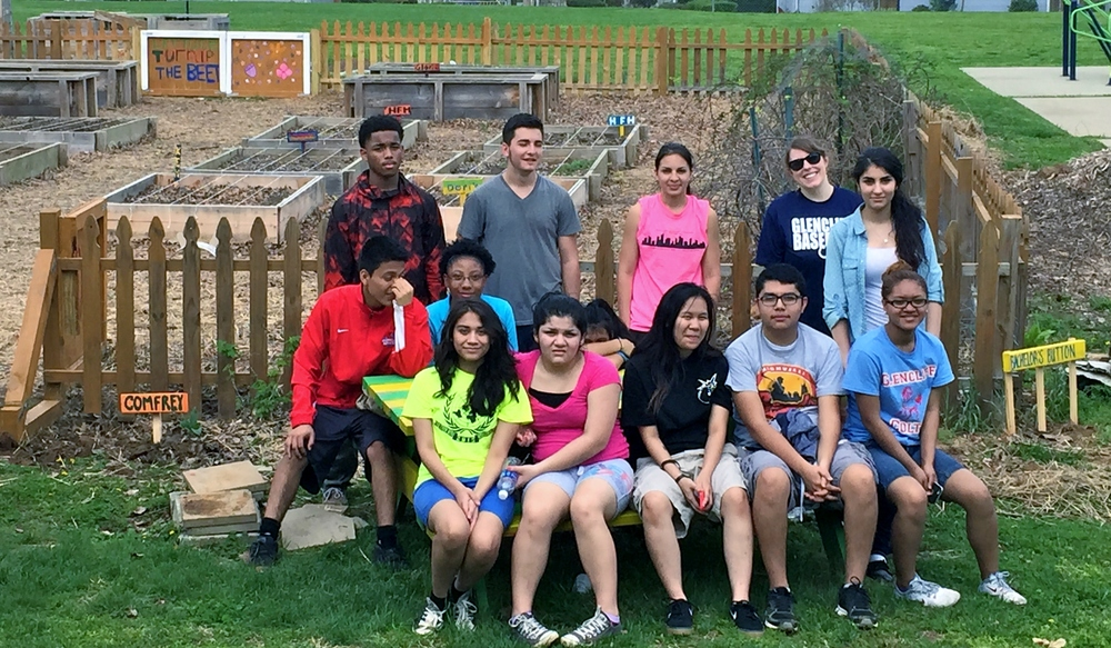 Thanks to these students from Glencliff High School for volunteering in the garden. They worked hard to dig a new plot in the orchard, and the community gardeners have since planted it with potatoes!