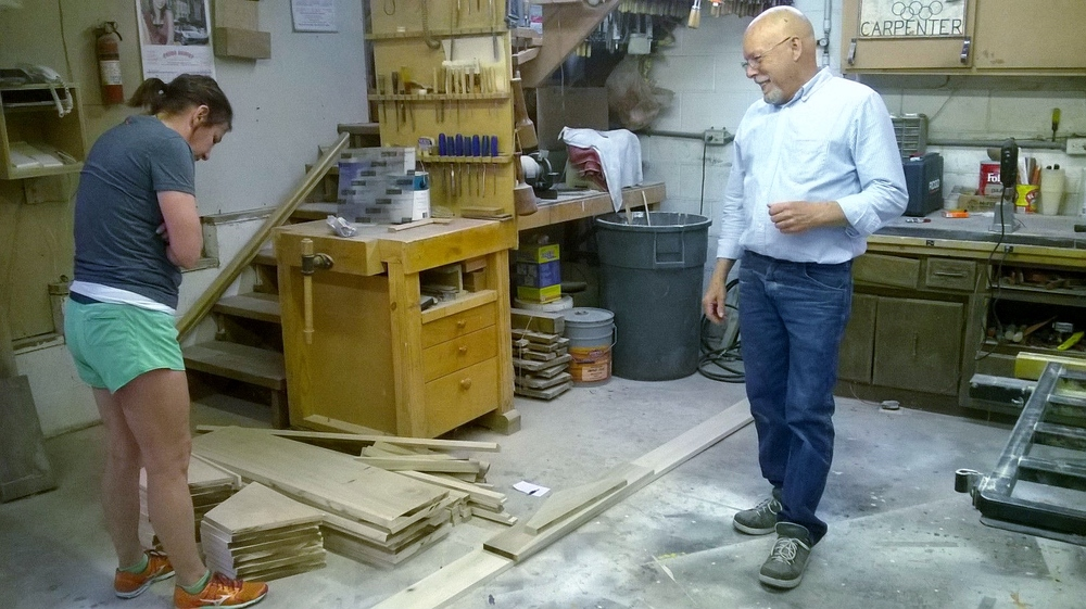 Jamie Huling pre-cut all the lumber for our beehives in his home woodshop.