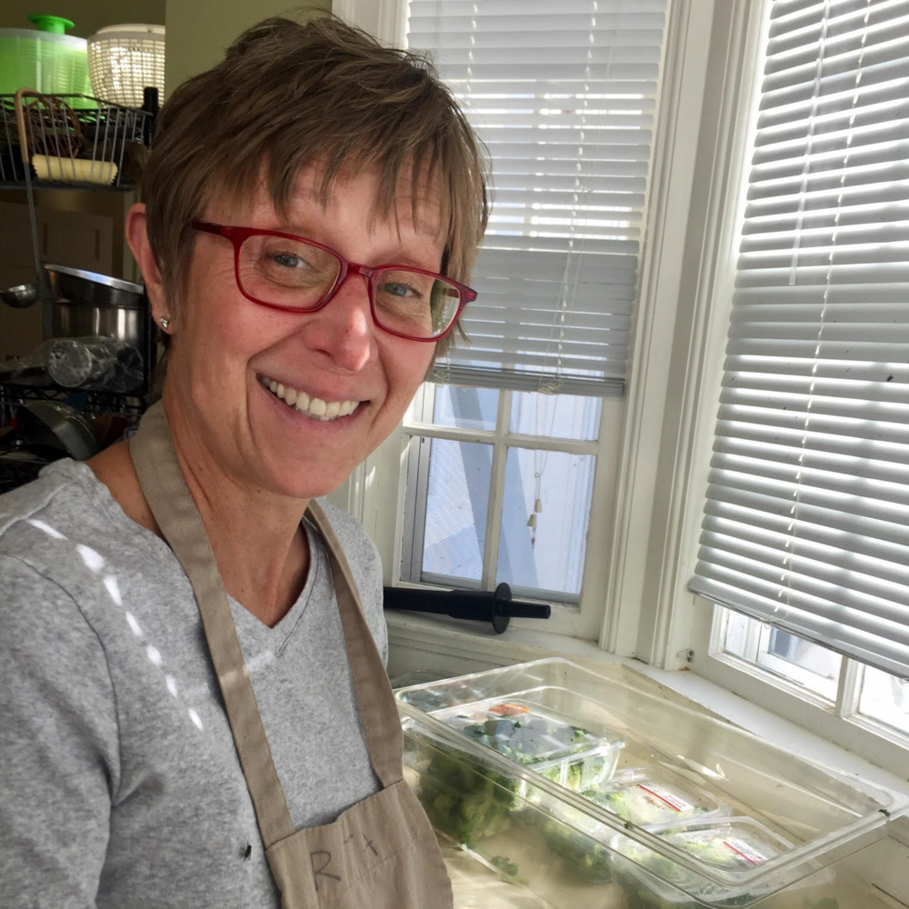 "November: Rita Pirkl ""Rita always has an amazing willingness to help out. We are thankful that she uses her abundant skills in the kitchen to make our meals healthy, creative, and tasty."""