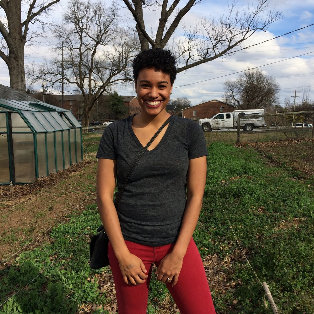 "February: Jasmyn Alvarez ""Jasmyn's warm smile and calming presence embodies the peace of the gardens she supports. It is always a pleasure to work alongside her."""