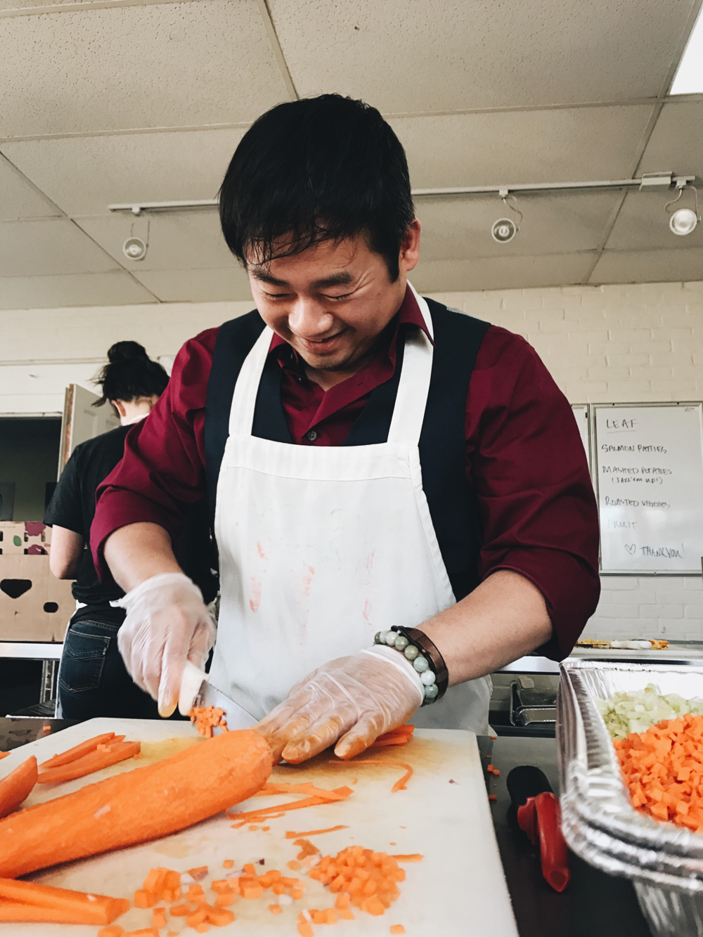 "June: Hai Ly ""Hai is a rockstar! He splits his volunteer time between garden, meal prep, and food recovery. We are so grateful for his time and effort devoted to TNFP."""
