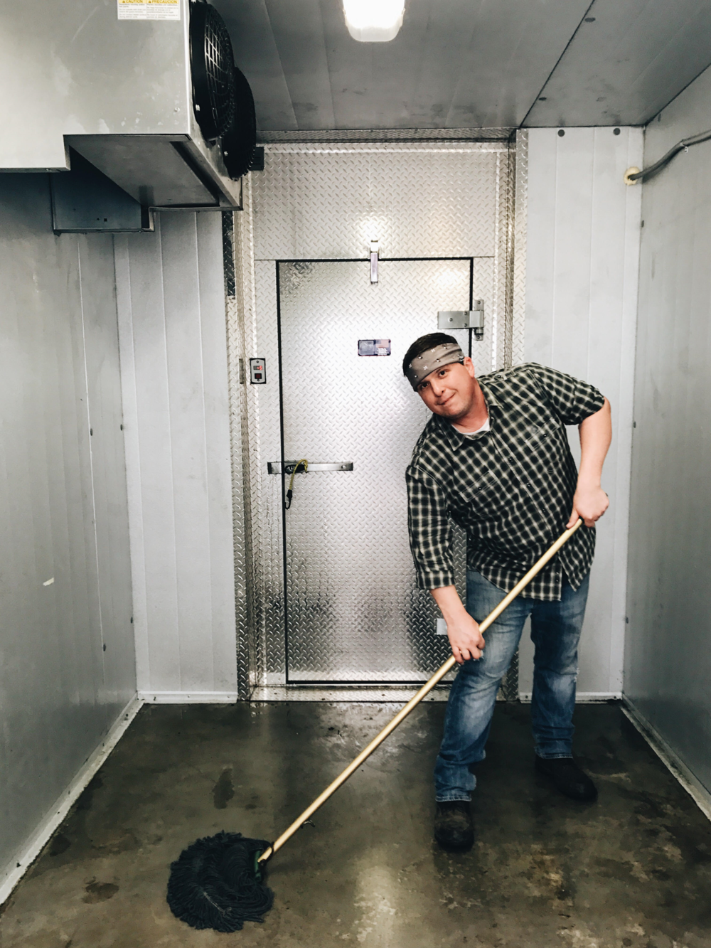 "May: David Price ""David has been an incredible volunteer in our prep room and kitchens from day one! He always shows up with a positive attitude and enthusiasm for whatever task is sent his way and his creativity and love for cooking is contagious! We could not do it without him."""
