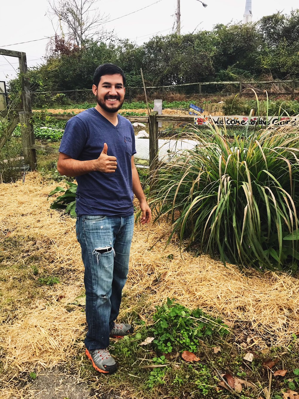 December 2017:  Eduardo has given over 45 hours in the garden over the past 3 months!His dedication is astounding;he's always the first one here and the last one to leave.Its great to have a volunteer with an amazing warmhearted spirit that gives back in his free time.