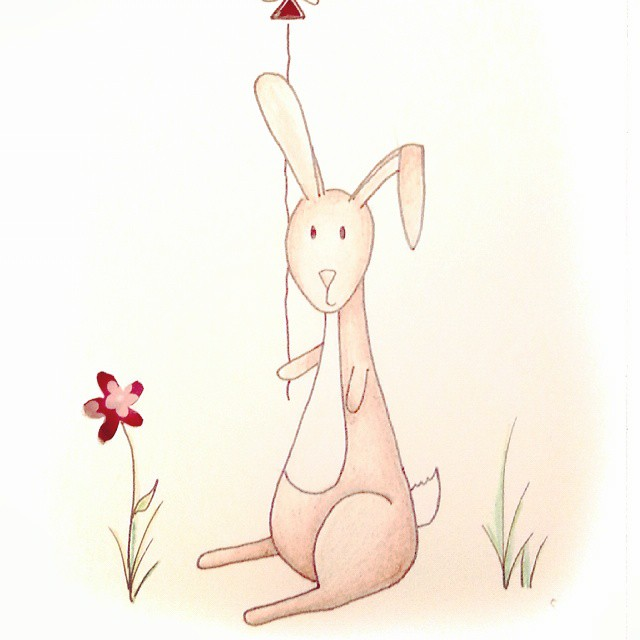 Lil' rabbit birthday illustration (for my favourite little rabbit)