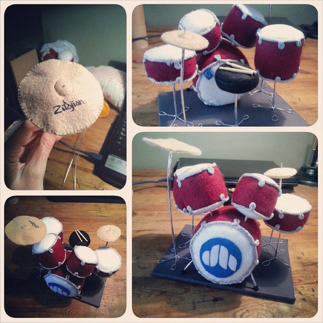 Personalised Felt Drums… one of the more surreal crafting projects I've undertaken, but unlikely to be the last.