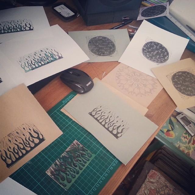 Testing new print designs (back where I belong).