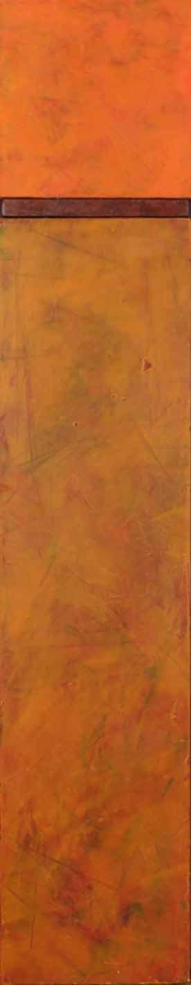 "Ephemeral Colors of Autumn  OIl & Wax, 6"" x 31""  2011"