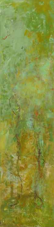 "New Growth  Oil & Wax, 6"" x 30""  2010  Sold"