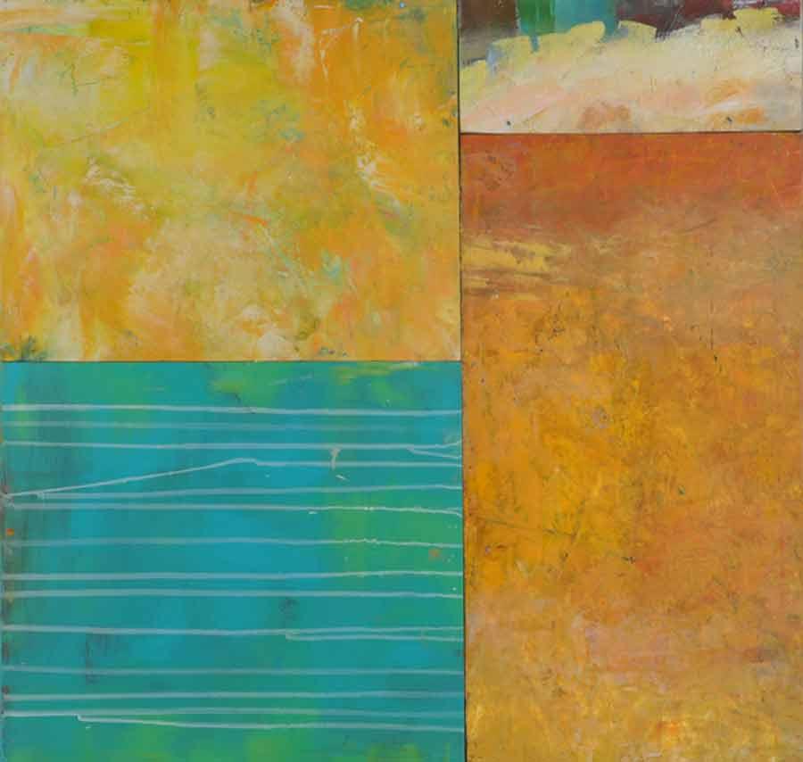 "Sky  Oil & Wax, 24"" x 36"", 2012  Sold"