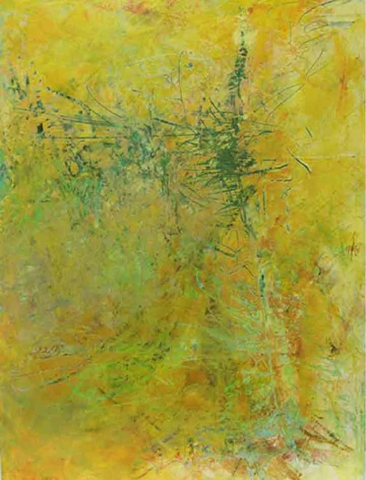 """Pine Tree  Oil & Wax, 18"""" x 24"""", 2011  Sold"""