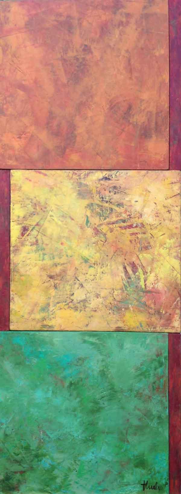 "Changing Seasons  Oil & Wax, 11"" x 30"", 2016  $350"